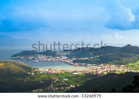 Fishing port in Galicia. Muros - stock photo