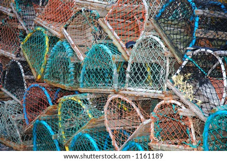 Fishing Pots - stock photo