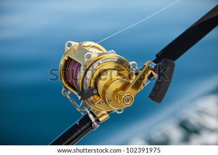 fishing reels - stock photo