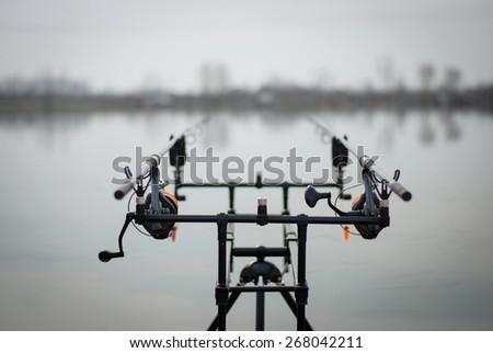 Fishing rod - stock photo
