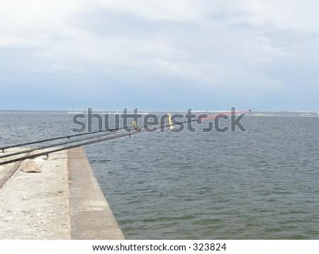 Fishing-rods - stock photo