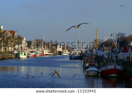 fishing seaport - stock photo