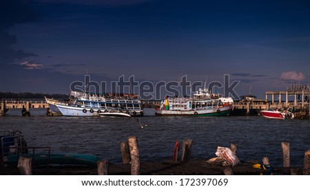 Fishing ship in Gulf of Thailand.