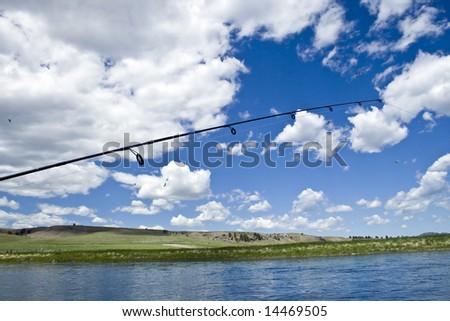 Fishing the Missouri - stock photo
