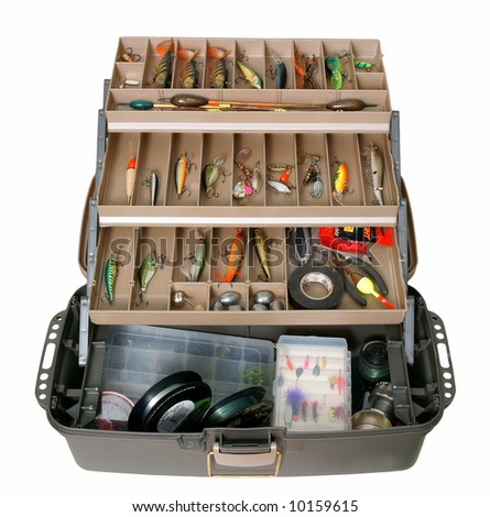 Fishing tool box - stock photo