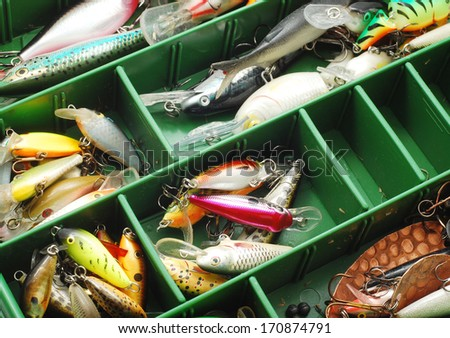 fishing tools - stock photo