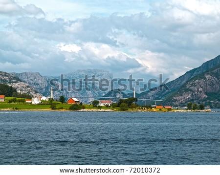 Fishing Village in Stavanger - stock photo