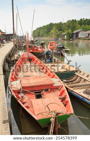 Fishing Village located at TRAT province, Thailand - stock photo