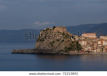 Fishing village Scilla in mediterranean sea, south-Italy