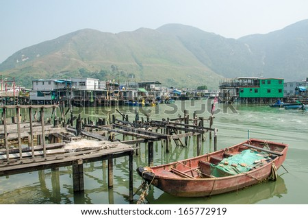 Fishing village Tai O in Hong Kong