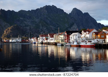 Fishing villages Norway - stock photo
