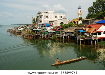 Fishing villages, Patthalung, Thailand - stock photo