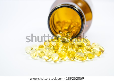 fishoil pill - stock photo