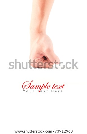 Fist hand isolate - stock photo