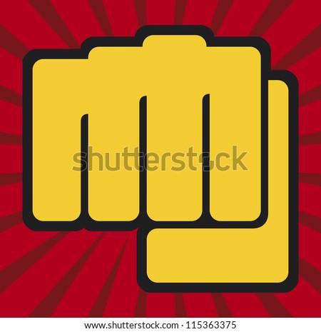 fist (human hand punching) - stock photo