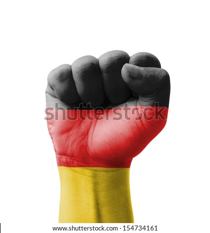 Fist of Germany flag painted, multi purpose concept