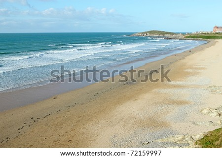 Fistral beach in Newquay, Cornwall UK. - stock photo