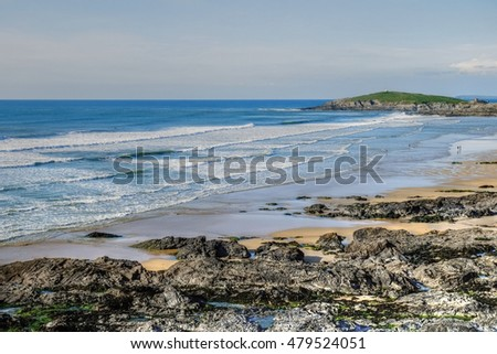 Fistral beach, Newquay, Cornwall. Beautiful sandy beach and a favourite with surfers.