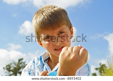 Fists Up - stock photo