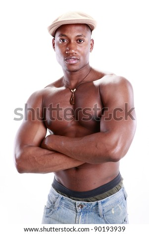 Fit African American - stock photo