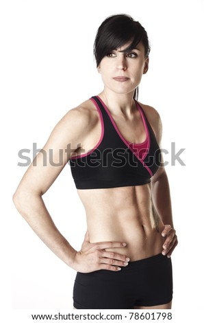 Fit Female in workout clothing - stock photo