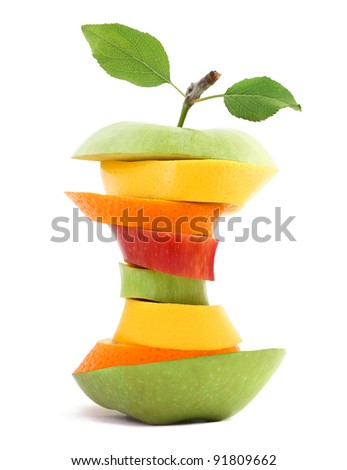 Fit Fruit - stock photo