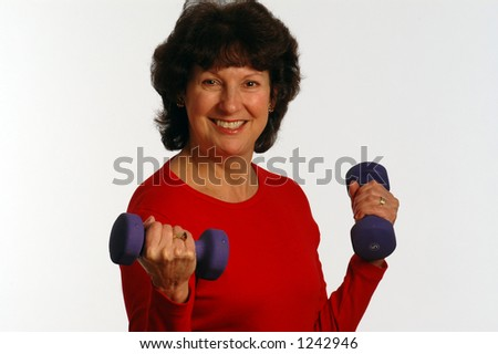 fit woman with smile - stock photo