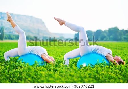 fithess woman - stock photo