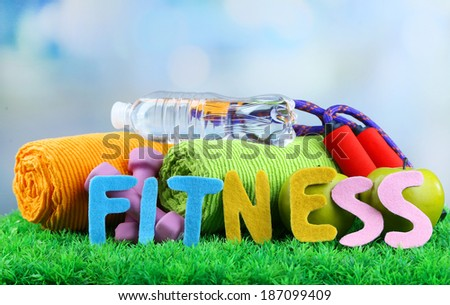Fitness and healthy life. Conceptual photo