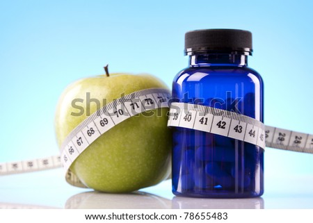 Fitness and supplements - stock photo