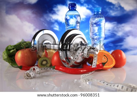 fitness and vitamins - stock photo