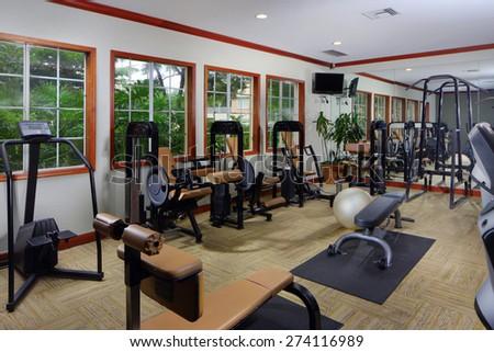 Fitness center - stock photo