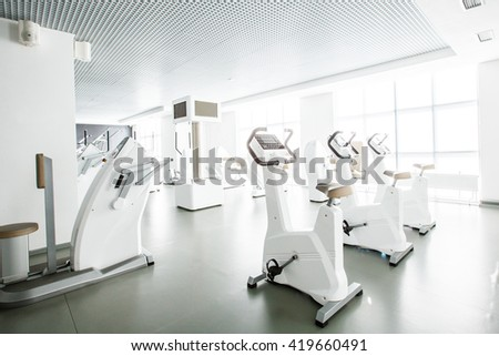 fitness center. Gym. Sport - stock photo