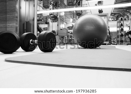 Fitness club in luxury hotel - stock photo
