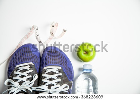 Fitness concept health and weight - stock photo