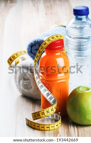 Fitness concept with healthy dieting  - stock photo