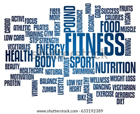 Fitness Concept Word Cloud