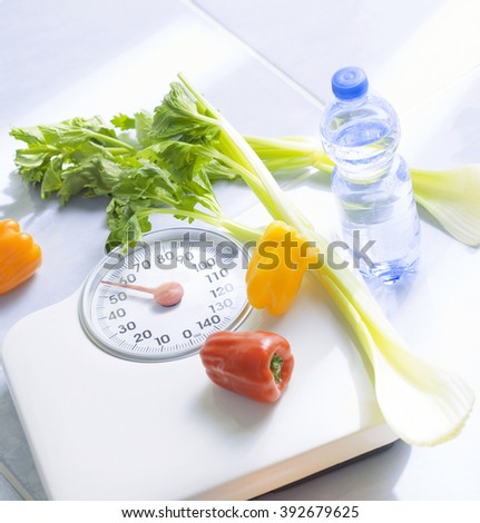 fitness diet measure  - stock photo