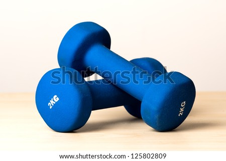 Fitness dumbbells - stock photo