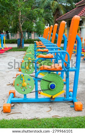 fitness equipment outdoors