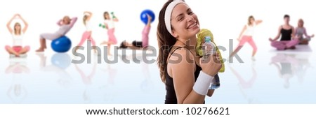 Fitness girl. - stock photo