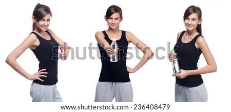 fitness girl - stock photo