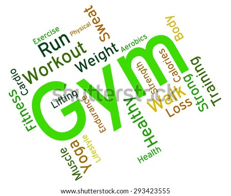Fitness Gym Representing Working Out And Gymnasium  - stock photo