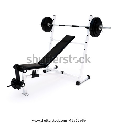 Fitness Home Gym for regular sports training - stock photo