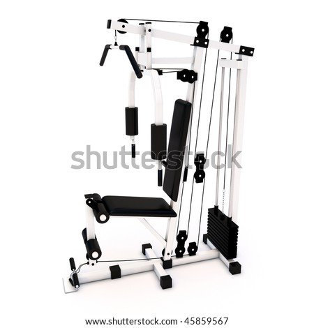 Fitness Home Gym for regular sports training  model - stock photo