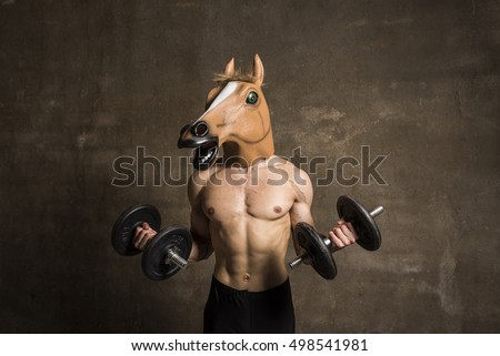 fitness horseface training weights