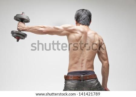 fitness man - stock photo
