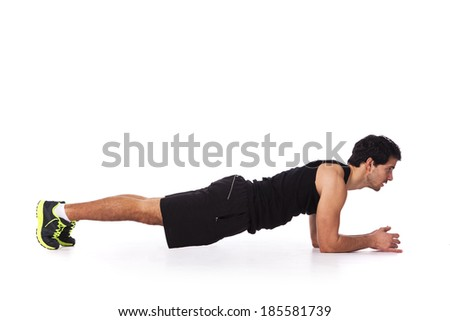 Fitness man - stock photo