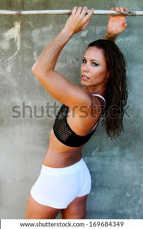 Fitness model. - stock photo