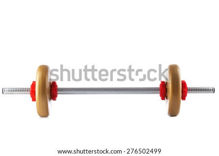 Fitness rod studio isolated on a white background